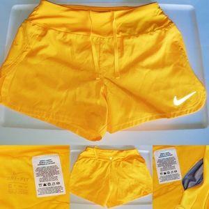 Women's Nike Dri-Fit Bright Yellow Running Shorts